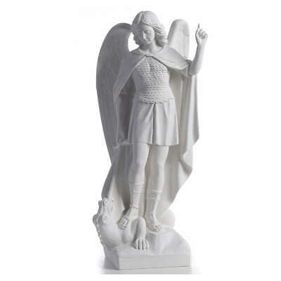 Saint Michael the Archangel statue in reconstituted marble, 60cm