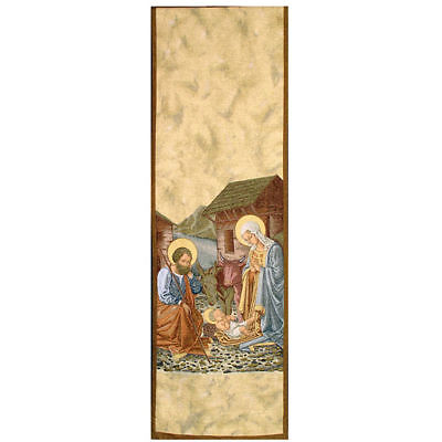 Lectern cover, Nativity and stable gold background
