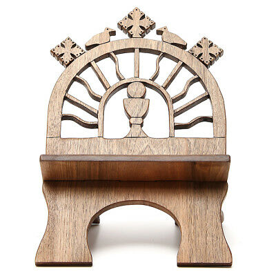 Book stand hand carved by the Bethlehem monks in Europena walnut wood