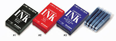 PLATINUM Fountain Pen Dye-based Ink Cartridge All Color Selections-10 piece box