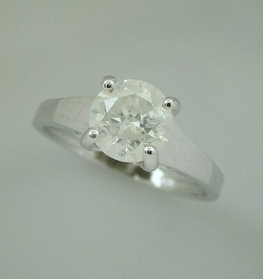 1.50 ct solitaire real diamond wedding engagement ring 18k white gold ring