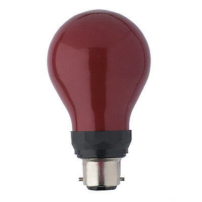 PF712B 15w Darkroom Red Safe Safelight 240v B22d BC Bulb Lamp 15w Red Safe