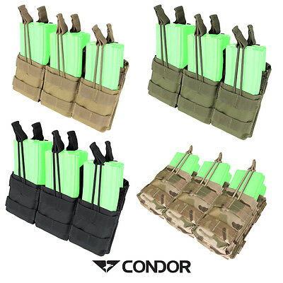 Condor Triple Stacker Rifle Mag Pouch Airsoft MILSIM Molle Mounting MA44