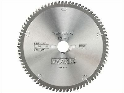 DEWALT - Circular Saw Blade 250 x 30mm x 80T Series 40 Extra Fine Finish
