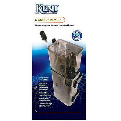 Kent Marine Aquarium Nano Skimmer Internal Filtration Fish Tanks Protein Skim