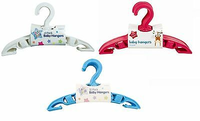 10x BABY CLOTHES HANGERS Toddler Childrens Maternity Kids Coat Space UK SALE
