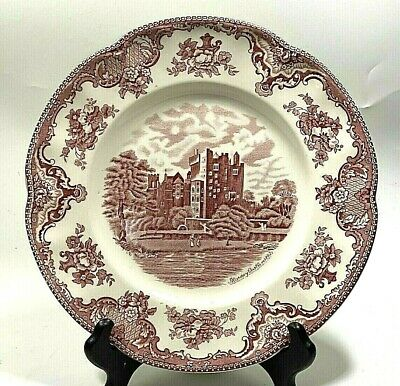 Johnson Brothers OLD BRITAIN CASTLES Dinner Plate PINK Blarney Castle in 1792