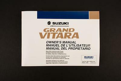 Genuine Suzuki Grand Vitara SQ Owners Manual 99011-65D21-012
