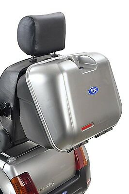 TGA Mobility Lockable Rear Box for TGA Breeze Mobility Scooter - Silver Lid