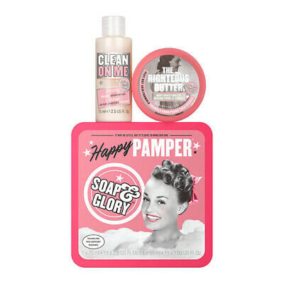 Soap & Glory Happy Pamper Gift Box Clean on Me 75ml/The Righteous Butter 50ml