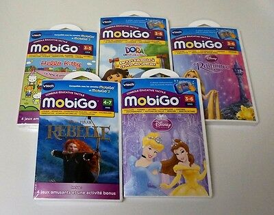 VTech MobiGo Software 3 Games COMBO Selected Titles - FRENCH ONLY - NEW / RX0/30