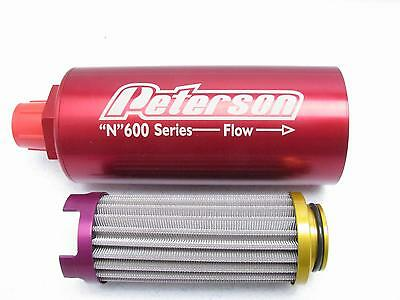 """Peterson Fluid Systems 100 Micron  """"N""""600 Series Fuel Filter -8AN   MISSING  END"""
