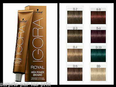 IGORA ROYAL High Power Browns B8 CHATAIN ROUGE Coloration Schwarzkopf 60ml