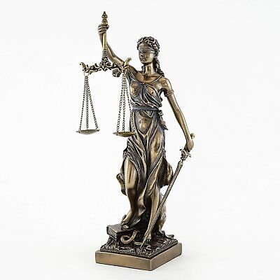Desktop Office Lady Scales of Justice Lawyer Statue Attorney Judge BAR Justitia