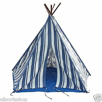 Blue Wigwam Tent New England. Childrens Kids Teepee Play Tent. Garden Or Indoor