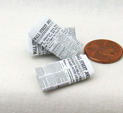 "Miniature ""The Wall Street Journal"" NEWSPAPER Dollhouse 1:12 Scale"