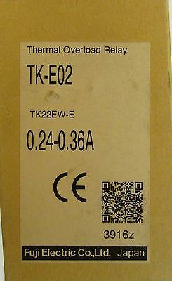 FUJI ELECTRIC TK E02 36 Thermal Overload Relay .24-.36 Amp TK22EW-E
