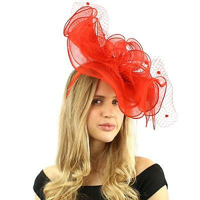 Sinamay Ribbon Netting Fascinators Headband Millinery Cocktail Derby Hat