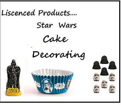 Star Wars Cake Decorating Kits Sugar Sprinkles Cupcake Cases Glitter Candle