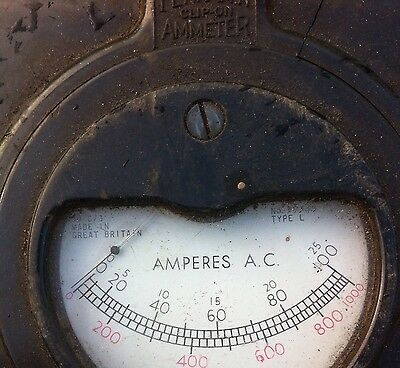 clip on ammeter / Vintage Ammeter/ Collector Item