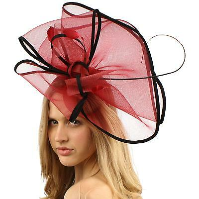 Gorgeous 2tone Feather Quill Fascinators Headband Cocktail Derby Hat