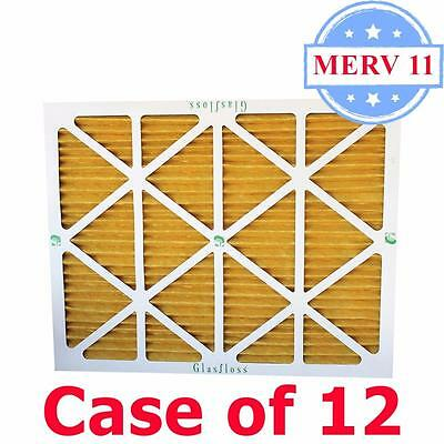 16x25x2 Air Filter MERV 11 Pleated by Glasfloss - Box of 12 - AC/Furnace Filters