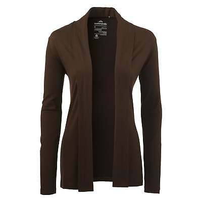 Kathmandu Camisa Womens Merino Wool Long Sleeve Slim Fit Cardigan in Brown New