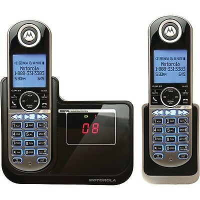Motorola DECT 6.0 Cordless Phone with 2 Handsets Digital Answering System and...