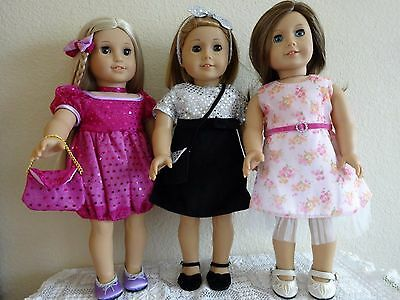 """NEW-DOLL CLOTHES -Party Dress Sets [3] fit 18"""" Doll such as AG Dolls-Lot #183"""