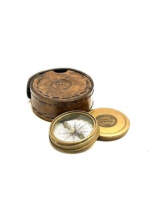 Robert Frost Poem Compass-Pocket Compass w Leather Case (Stanley London)