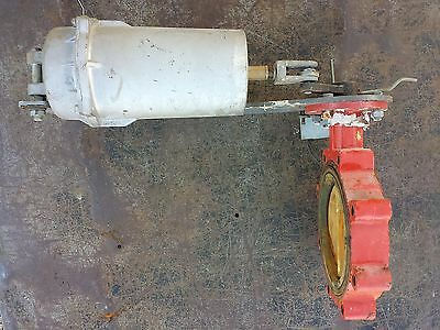 "Johnson Controls 6"" Pneumatic Actuator Butterfly Valve, Air Actuated"