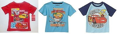 Disney Pixar Toddler Boys T-Shirts Cars or Planes Sizes 2T, 3T and 4T NWT