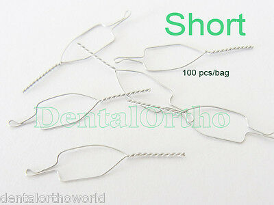 100pc Kobayashi ligature wire tie dental orthodontic niti coil buccal tube band