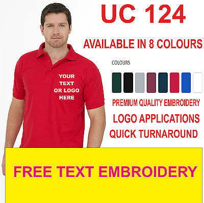 Custom embroidered polo shirt Personalised with your text - Workwear