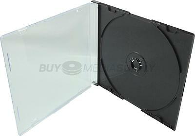 5.2mm Slimline Black 1 Disc CD Jewel Case - 1000 Pack