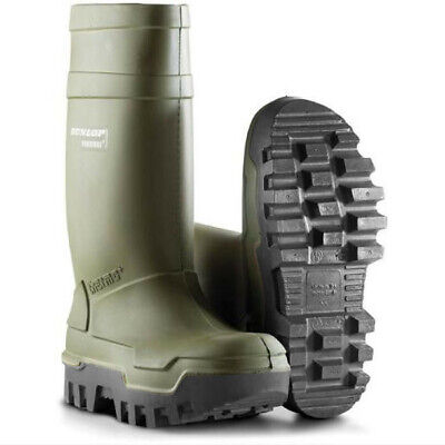 Dunlop Purofort Thermo Plus Safety Wellington Steel Toe Cap Work Wellies Boot S5
