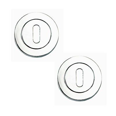 Designer LINEA AZTEC Door Keyhole Escutcheon Pair Cover Lock in POLISHED CHROME
