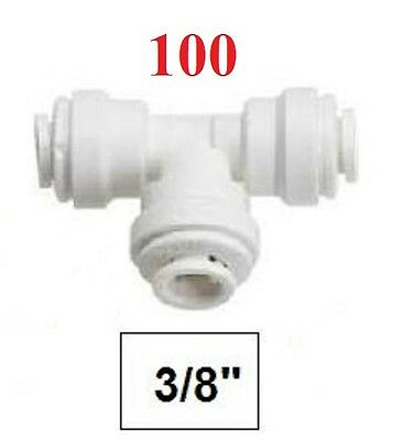 """100 tees 3/8"""" Quick Connect Fittings RO"""
