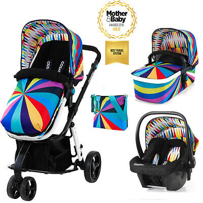 New Cosatto Giggle 2, 3 in 1 Travel System with Hold Car Seat - Go Brightly