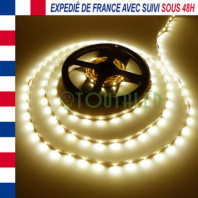 Led Strip Ruban Bande 5M 12V 300 Led 2835 Blanc Chaud 60 Led/m Non Etanche 3528