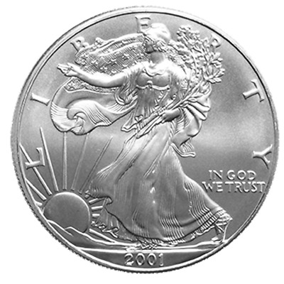 2001 $1 American Silver Eagle 1 oz Brilliant Uncirculated