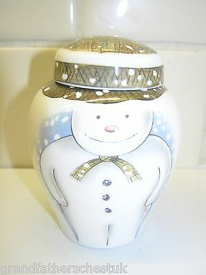 Rare Royal Doulton Snowman Gift Collection Small Ginger Jar 1St Quality Lovely