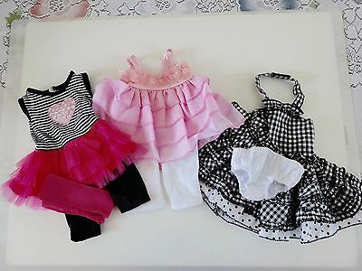 """NEW-DOLL SUMMER DRESS SETS [3] _Lot #186 fit 18""""Doll such as American Girl Dolls"""