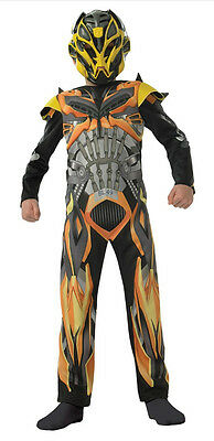 Bumblebee Costume Transformers 4 Childrens Kids Fancy Dress Outfit Age 7-8 Years