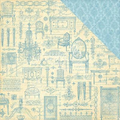 """Graphic 45 Gilded Lily - VERSAILLES - 12x12"""" D/sided Scrapbooking Paper"""