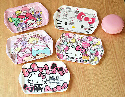 Dinnerware Cute Hellokitty Melamine Plate Dish Fruit Snack Tray Tableware AA-69K