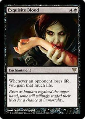 EXQUISITE BLOOD Avacyn Restored MTG Black Enchantment RARE