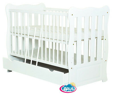 "New !!! Baby Cot With Drawer/junior Bed ""julia Ii"" + Selection Of Mattress"