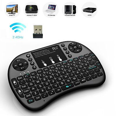 Rii i8+ Wireless Air Keyboard Touchpad Mouse LED Backlit Android Box