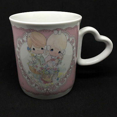 Precious Moments TO MY FOREVER FRIEND Coffee Mug • 1991 Vintage • Heart Handle